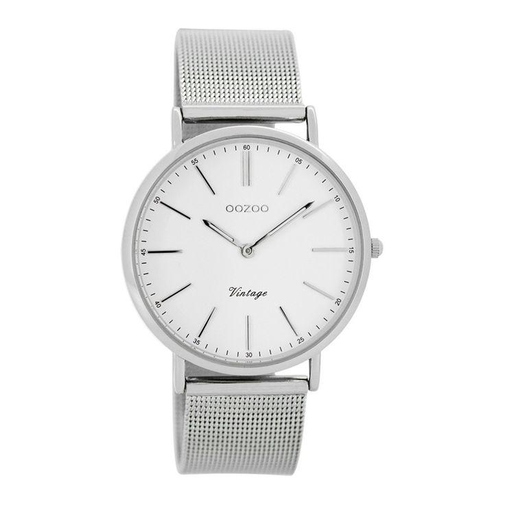 OOZOO Vintage horloge Zilver C7395
