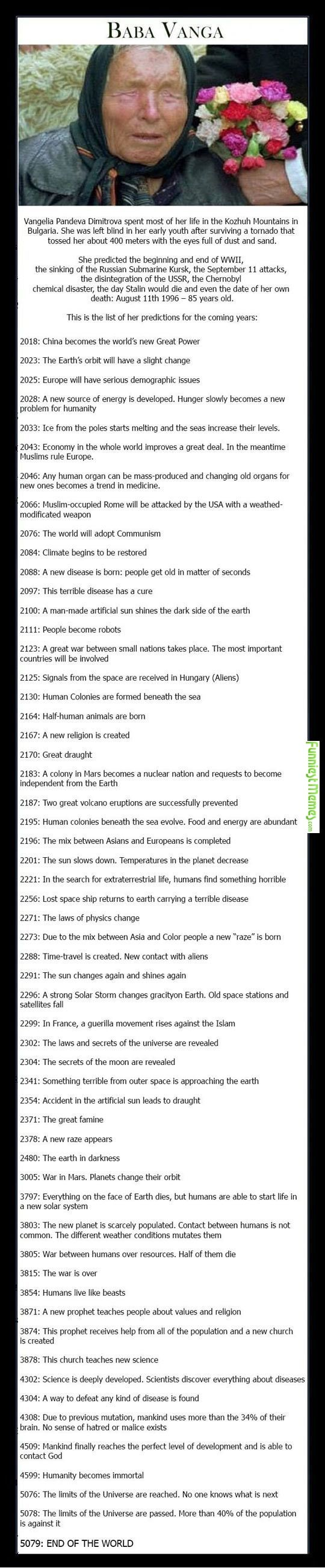Christianity will never end. And it is my personal belief that the world will end before AD 3000.