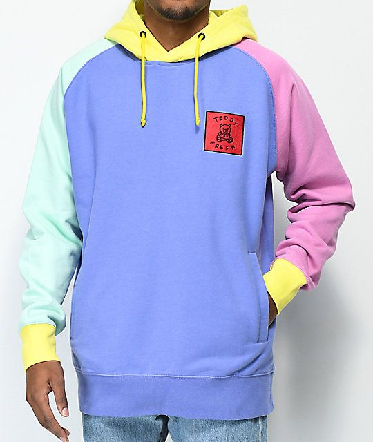 73fac414b02a5 Teddy Fresh Colorblock Hoodie in 2019 | aesthetic | Hoodies, Clothes ...