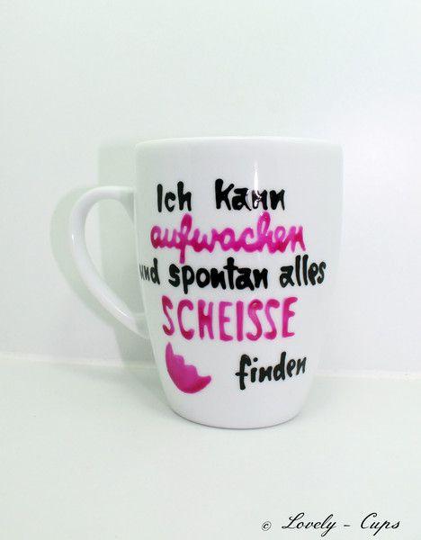 lustige Geschenk Tasse mit Spruch Morgenmuffel  von Lovely-Cups   auf DaWanda.com