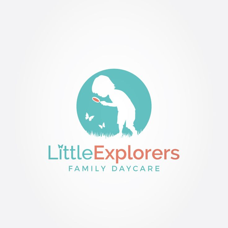 I had one of my children pose for this logo. Then, I created a silhouette from it and added some butterflies and grass to bring it to life.