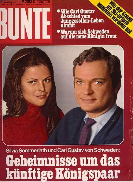 1974: König Carl Gustaf von Schweden und Silvia Sommerlath ...