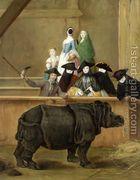 The Rhinoceros 1751  by Pietro Longhi