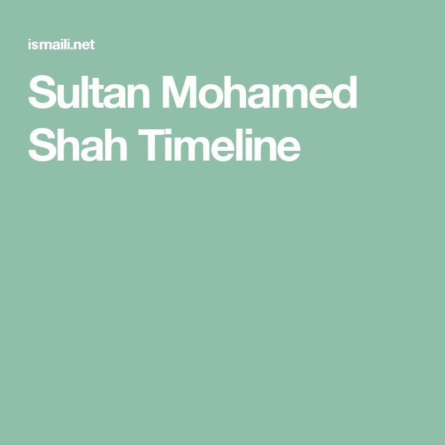 Sultan Mohamed Shah Timeline