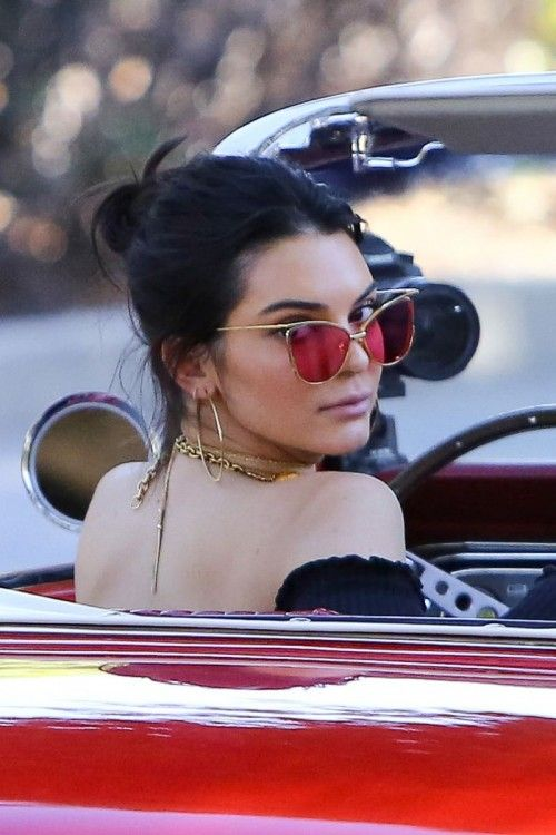 KENDALL JENNER on the Set of a Vogue Interview in Beverly Hills 11/10/2016