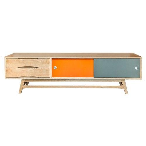 6ixty TV Unit Oak Cabinet