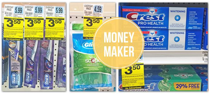Moneymaker Oral-B Toothbrush & Crest Toothpaste at Rite Aid!