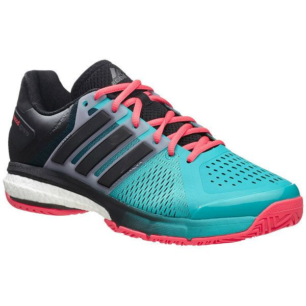 Adidas Men's Tennis Energy Boost Shoes Teal/Coral/Black Men's Shoes