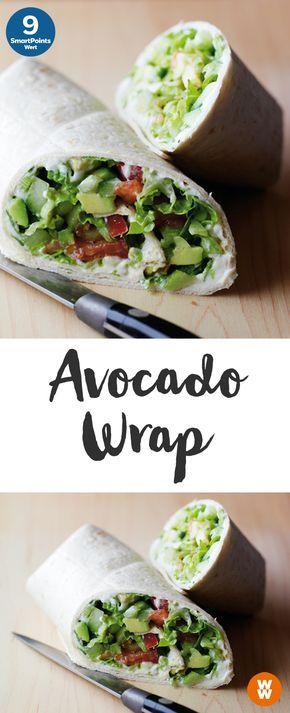 Avocado-Wrap mit Salsa   2 Portionen, 9 SmartPoints/Portion, Weight Watchers, fertig in 10 min.