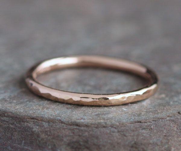 Lina++Handmade+Solid+14k+Rose+Gold+Ring+by+blacksanddesigns,+$118.00