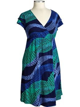 wateryPlus Fashion, Flutter Sleeve Dresses, Blue Dresses, Navy Dresses, Size Style, Jersey Dresses, Wraps Dresses, Old Navy, Blue Prints