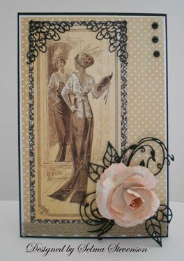 Lovely fashion card - by Selma's Stamping Corner