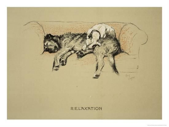 Relaxation, 1930, 1st Edition of Sleeping Partners Giclee Print by Cecil Aldin at AllPosters.com
