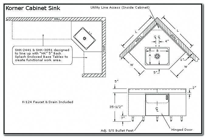 corner kitchen sink cabinet dimensions