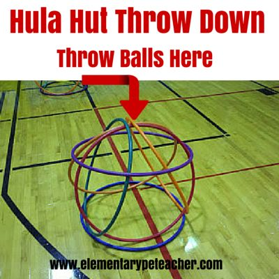 Hula Hut Throw Down is an awesome & fun indoor activity by J.D. Hughes! Some know this activity as castle ball.