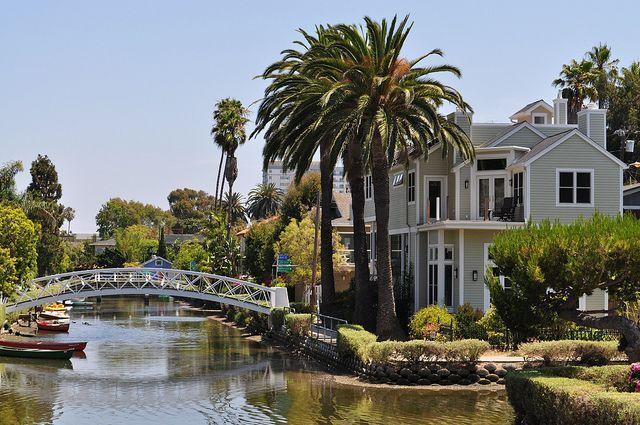 Canals, Venice Beach, California.