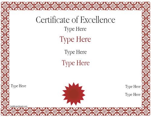 17 best Certificate images on Pinterest Flags, A student and - certificates of excellence templates