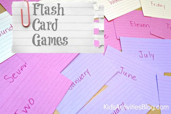 flash card games  -easy ways to play and learn with kids