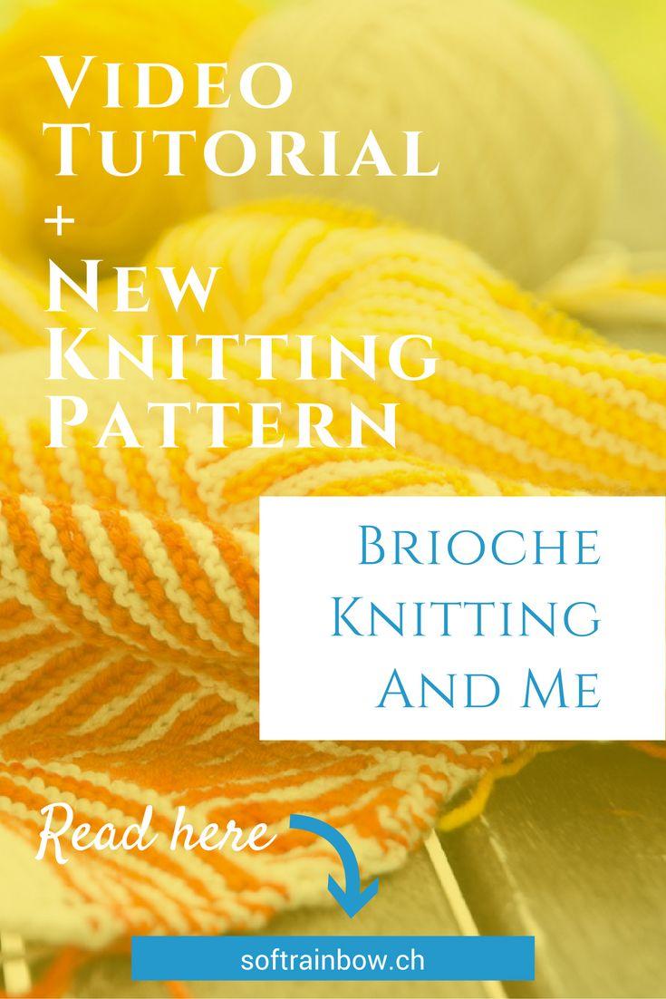 video tutorial, brioche knitting, shawl knitting pattern,