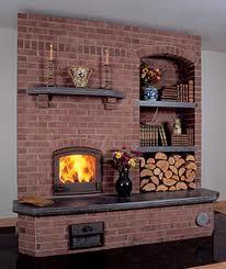 Russian masonry stove...I like the wood storage