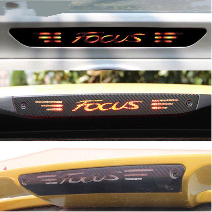 Serat karbon Stiker Dan Decals High Mount Berhenti Lampu Rem Cahaya Styling mobil Untuk Ford Focus 2 3 MK2 MK3 2005-2017 Aksesoris