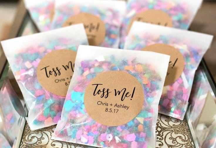 Wedding Confetti, Wedding Confetti Bags, Confetti Toss, Wedding Confetti Poppers, Confetti Throw by PoppyandErie on Etsy https://www.etsy.com/listing/539341033/wedding-confetti-wedding-confetti-bags