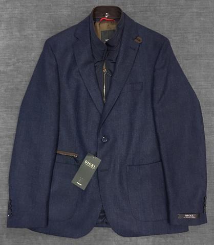 Digel - Earl- Veston de laine Easywear - Blue