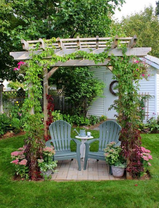 Garden Nook pergola design ideas | Small backyard ... on Backyard Nook Ideas id=42133