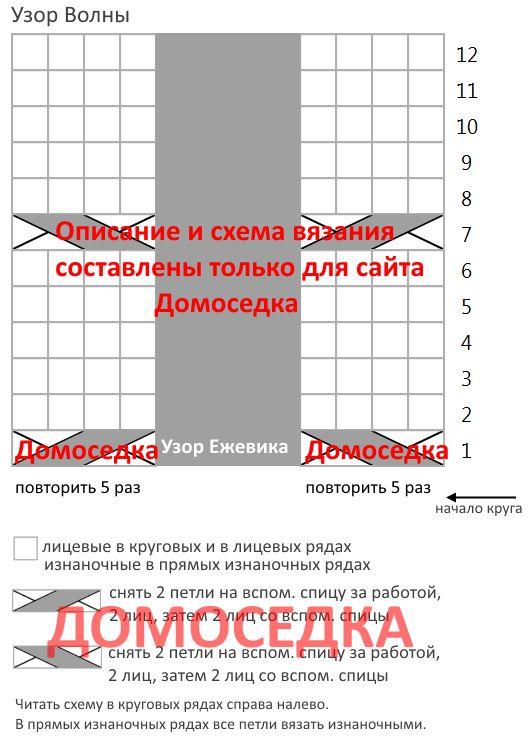 Jill Stuart shema uzora volnyi   Домоседка