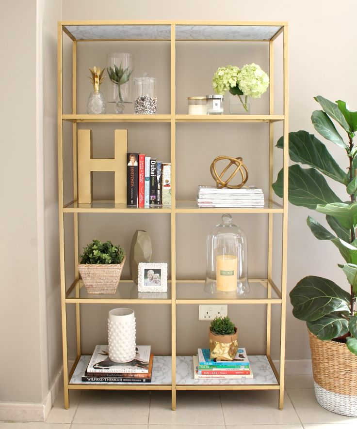 genius idea for when i move love the gold - Shelving Units Ideas