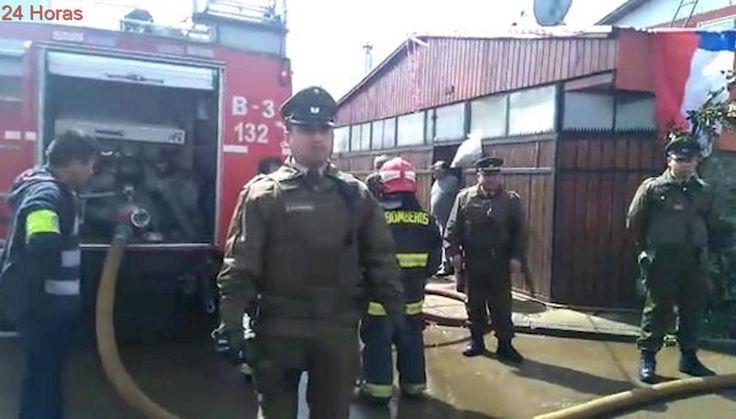 Vecinos de casa incendiada en Valdivia están molestos por presencia de Fuerzas Especiales
