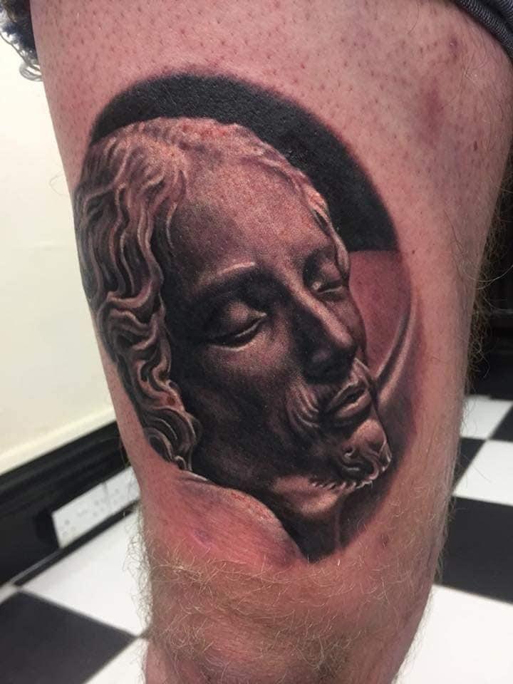 Pieta Detail Tattoo Artists Near Me Famous Tattoo Artists Realism Tattoo