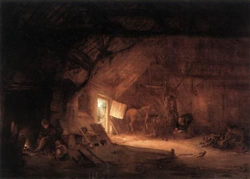 Farmhouse Interior - Isaac van Ostade