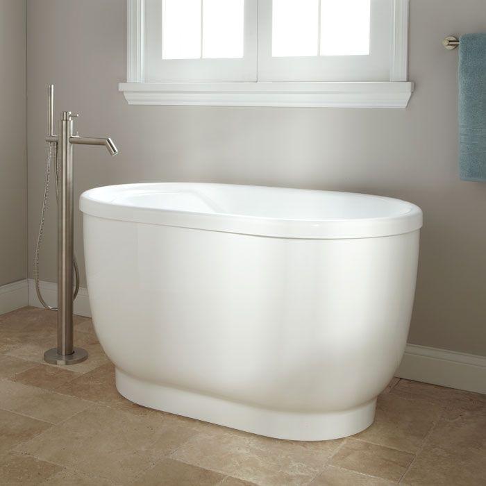 51 Pelion Acrylic Freestanding Tub No Overflow Or Faucet Holes   EBay