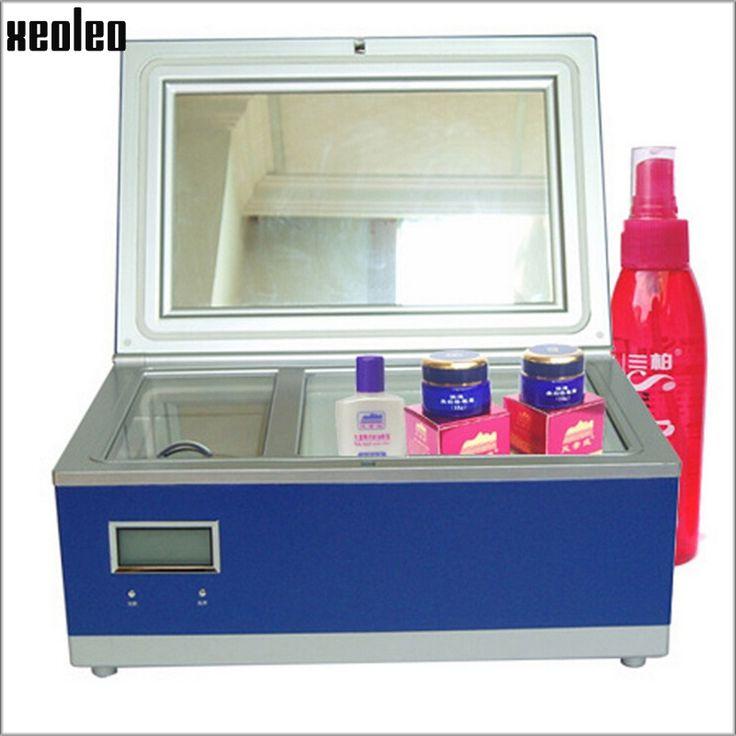 148.50$  Watch here - http://aliyft.worldwells.pw/go.php?t=32579029533 - Xeoleo Cosmetic Refrigerator 3L Cosmetics reefer Portable Freezer for cosmetics Car Fridge Vertical Mini Cooler Box AC220V 8-18C