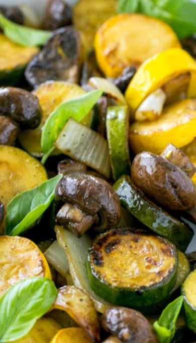 Grilled zucchini and mushrooms recipe grilled zucchini for Side dish recipes for grilling out