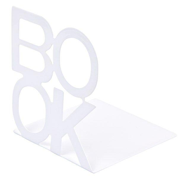 Bokstöd BOOK vitt, 2-pack