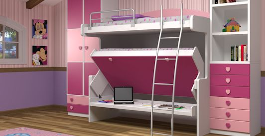17 best images about layla 39 s room on pinterest loft staircase bunk bed and storage - Double deck bed designs for small spaces pict ...