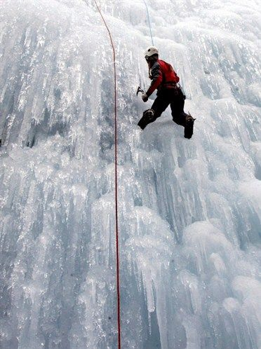 Ice climbing in the Canadian Rockies - Canmore, Alberta #Canmore