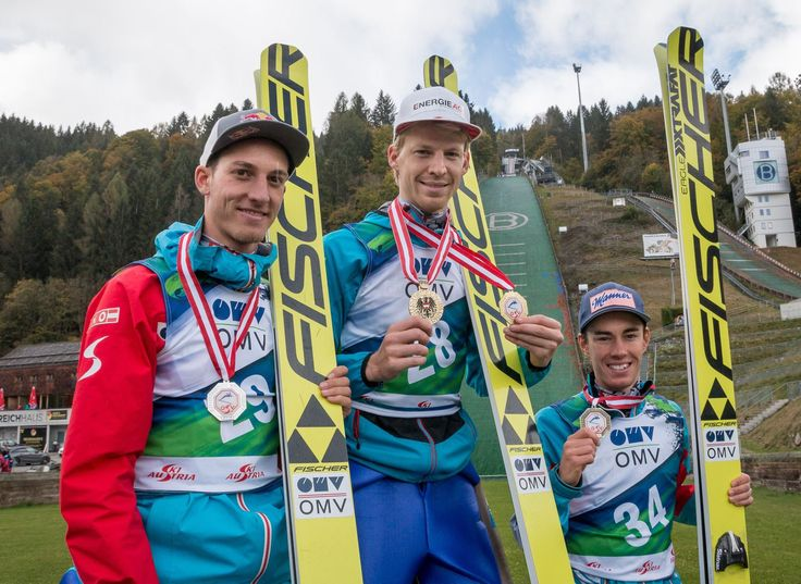 Top three at the Austrian Championship. Congrats to Michael Hayböck, Gregor Schlierenzauer and Stefan Kraft. New competition tomorrow.