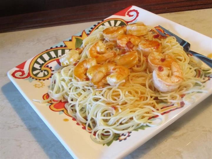 Sweet and Spicy Orange Glazed Shrimp | Food, Glorious Food! | Pintere ...