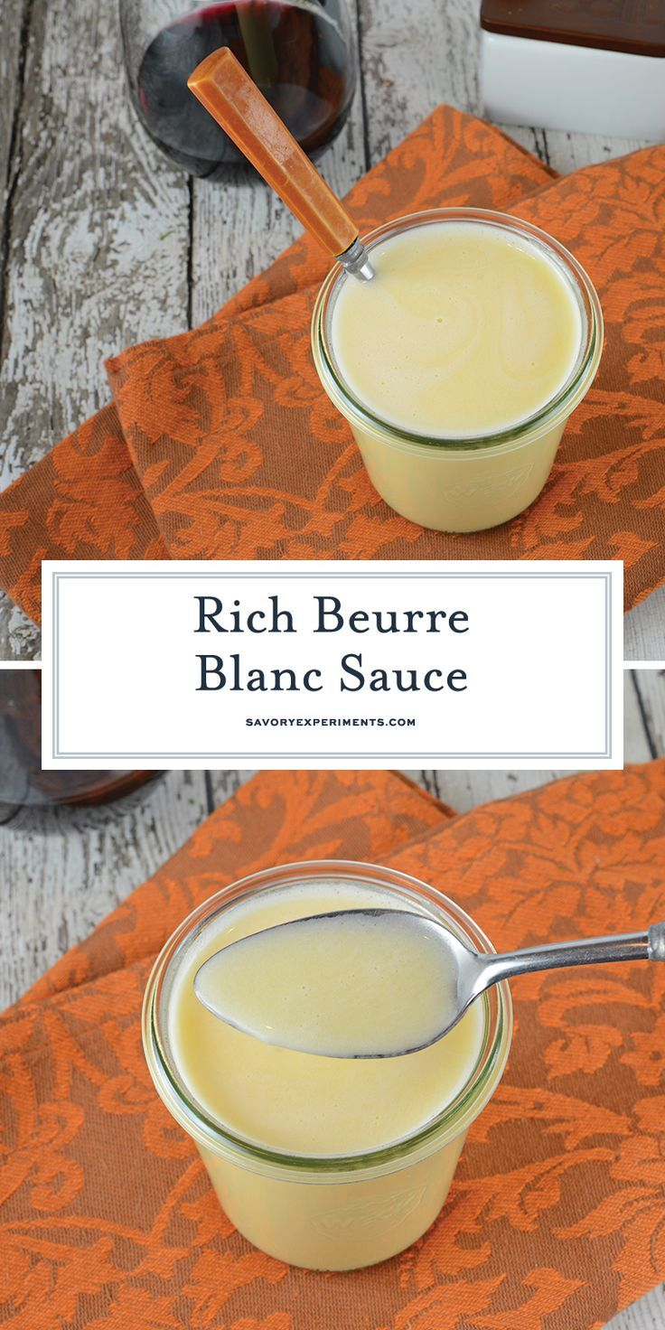 "Beurre Blanc is a classic French sauce translated as ""white butter"". Decadent an…"