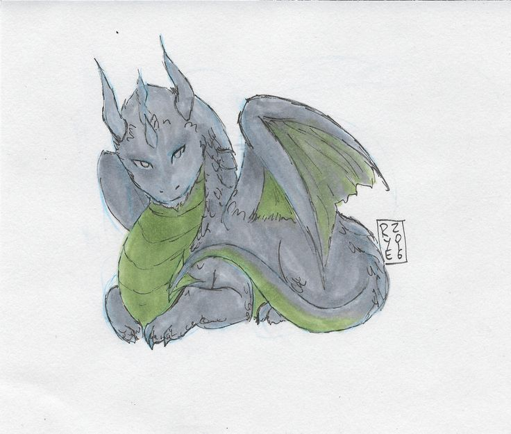 Entry 9: 'Grey Dragon' by Rye the Art Guy, adult Vote on Facebook by Nov 30