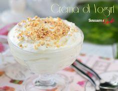 Crema di yogurt, dessert, ricetta base per dolci e gelati. Una crema golosa e leggera per creare tanti dessert al cucchiaio
