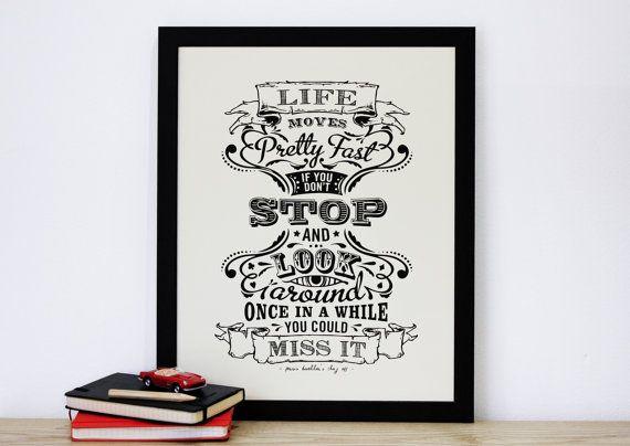 La vie se déplace vite citation de Ferris Bueller par ChattyNora