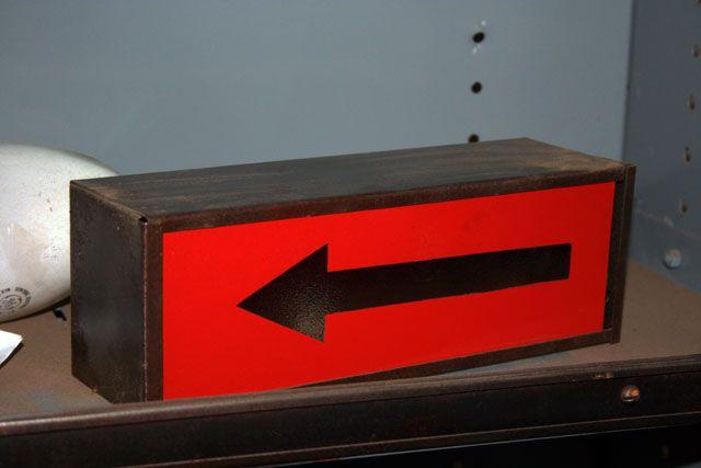 Lampe de sécurité `fleche rouge 1960`