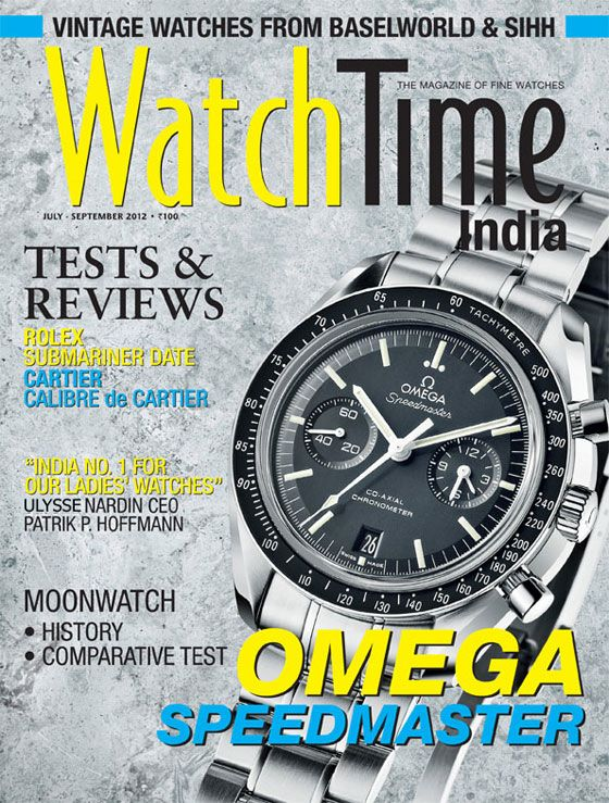 The cover of the premiere issue of WatchTime India