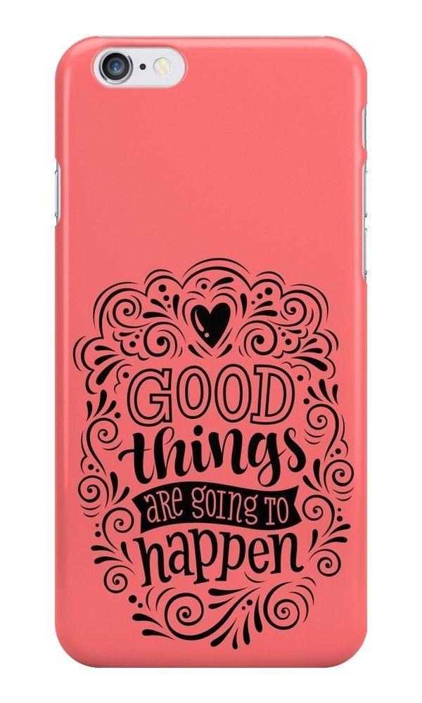 Our Good Things Are Going To Happen Phone Case is available online now for just £6.99.    Check out our super cute Good Things Are Going To Happen phone case, available for iPhone, iPod & Samsung models.    Weight: 28g, Material: Plastic, Production Method: Printed, Thickness: 12mm, Colour Sides: Clear, Compatible With: iPhone 4/4s | iPhone 5/5s/SE | iPhone 5c | iPhone 6/6s | iPhone 7 | iPod 4th/5th Generation | Galaxy S4 | Galaxy S5 | Galaxy S6 | Galaxy S6 Edge | Galaxy S7 | Galaxy S7 Edge