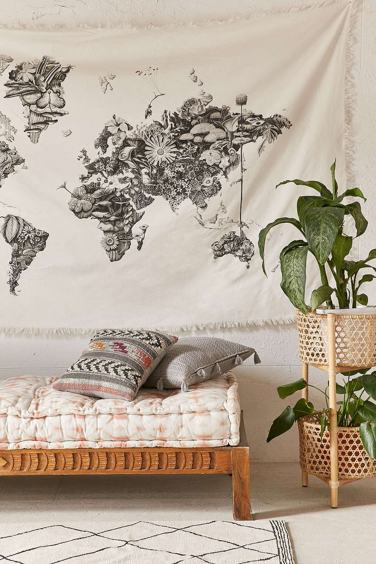 Urban outfitters bedroom - Armando Veve Map Tapestry