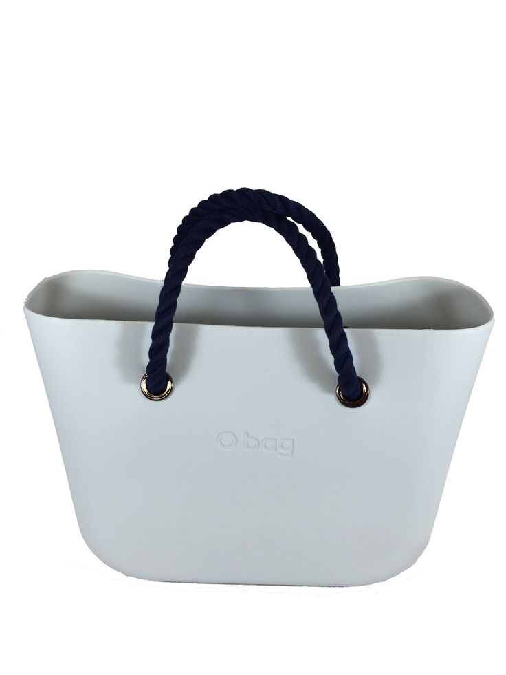 The indestructible Ivory O Bag + Short Navy Rope Handles = Hot summer look! Get 50% off your handles when you buy a bag!